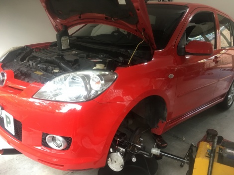 Front Brake Repair Mazda 2 Wallsend