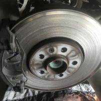 Front brake discs prior to repair Newcastle Mobile Brake Specialists