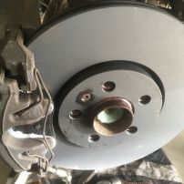 Front brake discs after repair Newcastle Mobile Brake Specialists