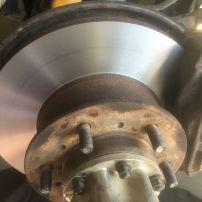 Front disc machining and new front disc pads