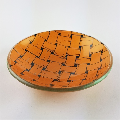 SL15 Tiny Round Bowl in Weave Gold
