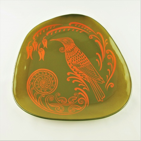 Large Pebble Platter Tui in Khaki and Gold