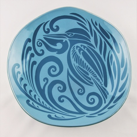 XL Oyster Bowl Kingfisher in Bay Blue & Turquoise