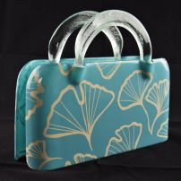 Kete Rectangular Bag with Gingko Leaf in Turquoise