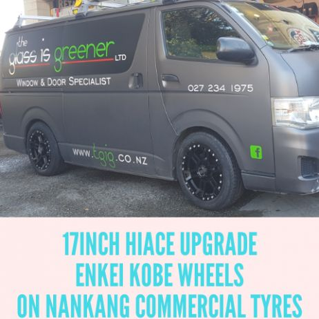 HIACE WHEEL AND TYRE UPGRADE