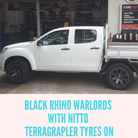 WHEEL AND TYRE UPGRADE ON ISUZU DMAX