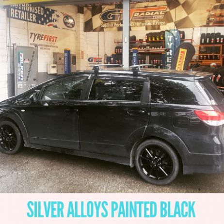 SILVER ALLOYS PAINTED BLACK