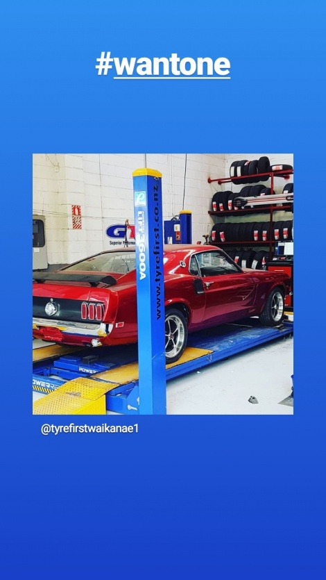MUSTANG IN FOR SOME TYRES AND 3D WHEEL ALIGNMENT