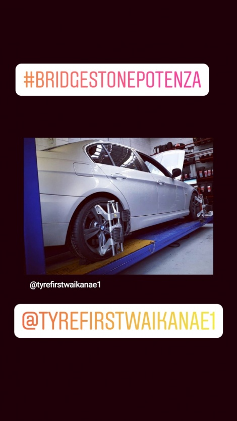 POTENZA TYRES AND 3D WHEEL ALIGNMENT ON BMW