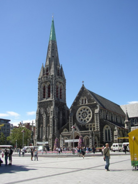 Christchurch Cathedral in happier days