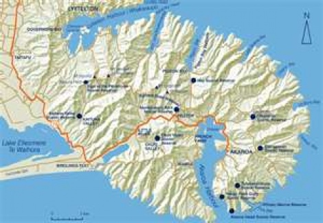 Map of Banks Peninsula