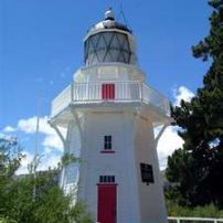 Akaroa Lighthouse has been moved into the town a short walk from the wharf