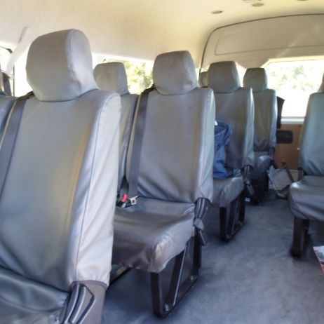 2013 Minibus Interior...reclining seats, air-con, clear PA system (hard-wired)