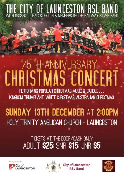 75th Anniversary Concert (Sun 13th Dec 15)