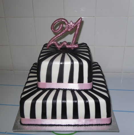 Twenty First 2 tier Birthday cake