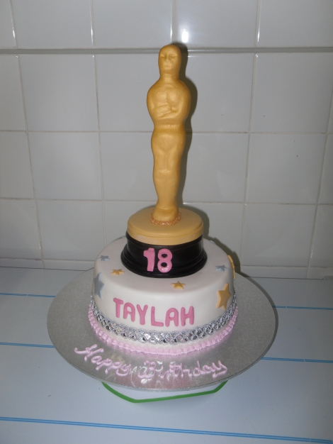 Birthday Winning Oscar cake