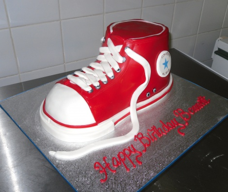 Converse shoe novelty cake