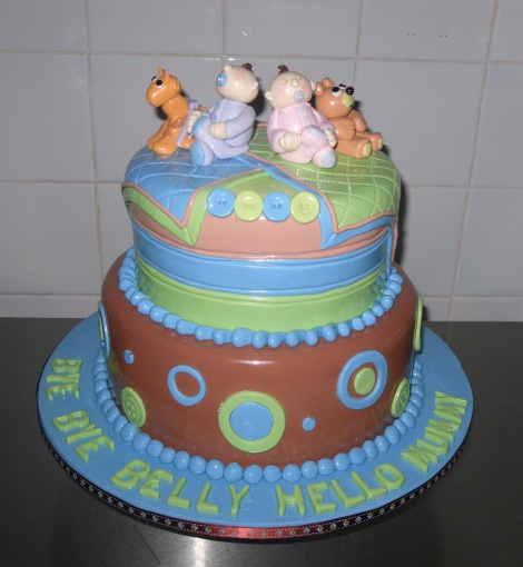 Baby shower 2 tier cake