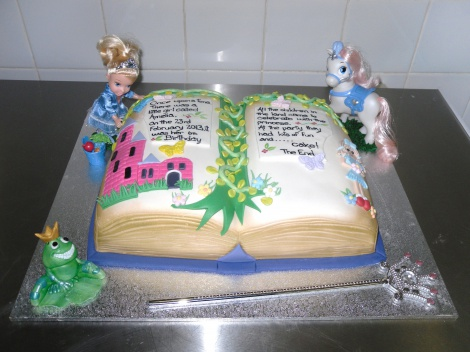 Princess fairytale book cake