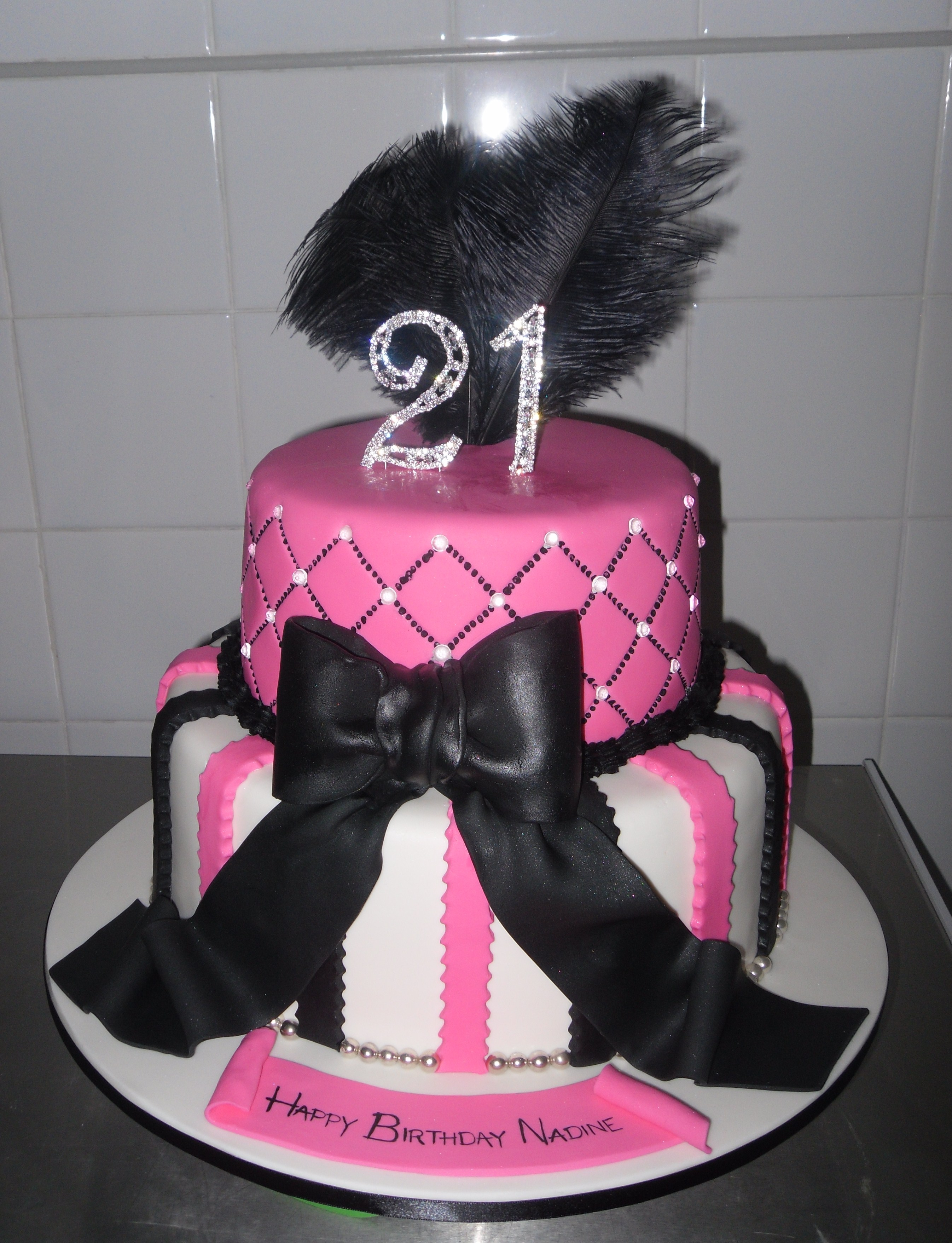 2 Tier 21st Cake Annettes Heavenly Cakes