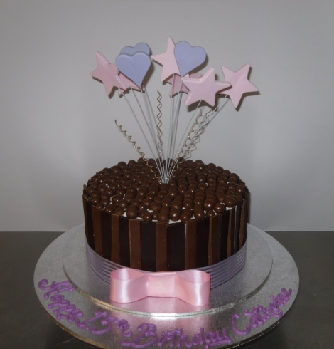pink and purple choc choc cake