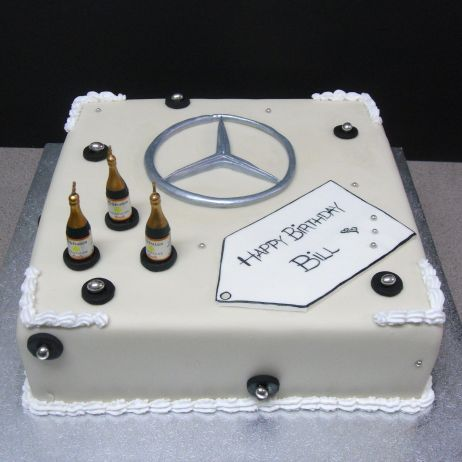 My gallery check out our cakes annette 39 s heavenly cakes for Mercedes benz cake design