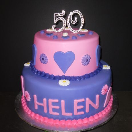 2 tier 50th cake