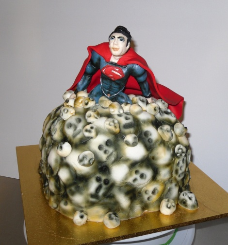 Superman novelty cake