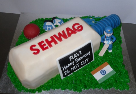Indian cricket cake