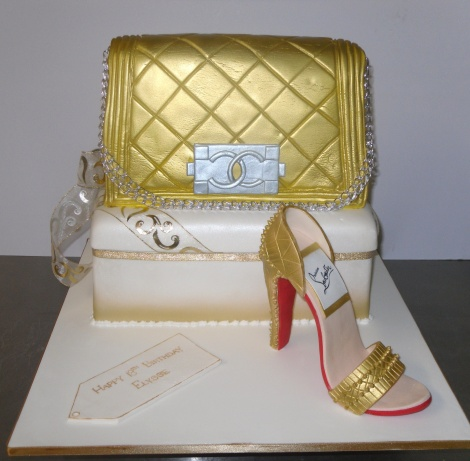 Bag and shoe cake