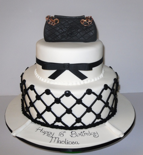 2 tier Chanel cake