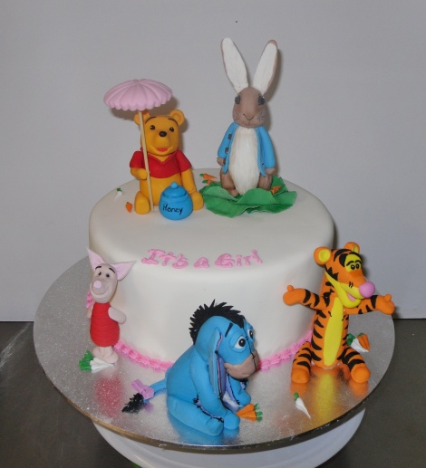 Pooh and Peter Rabbit cake