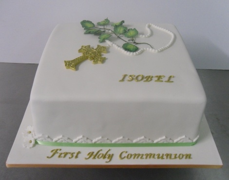Grape vine communion cake