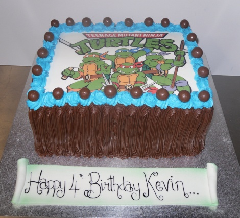Boy's picture cake