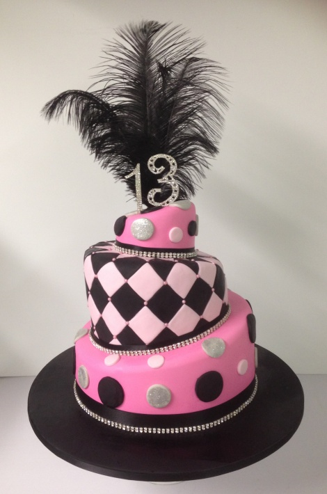 3 tier topsy turvy birthday cake