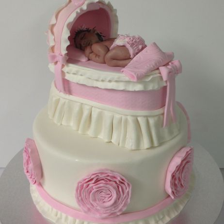 Basinet baby shower cake
