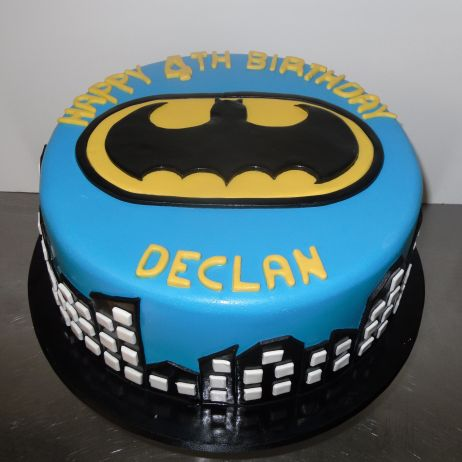 Blue batman cake