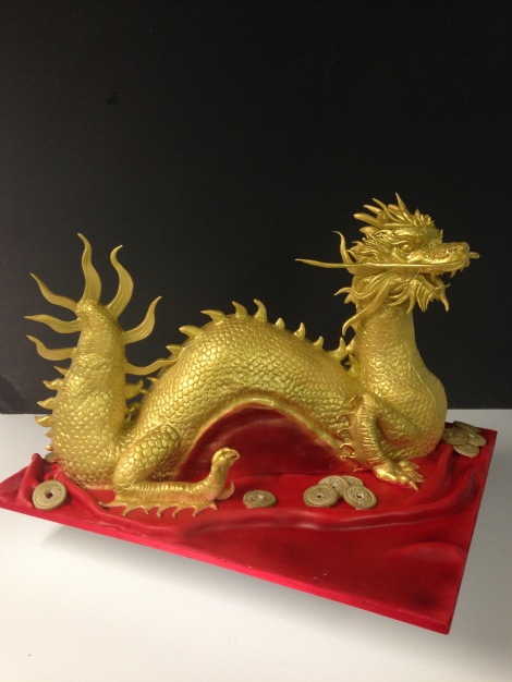 Chinese dragon cake