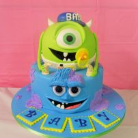 Monsters inc baby shower cake