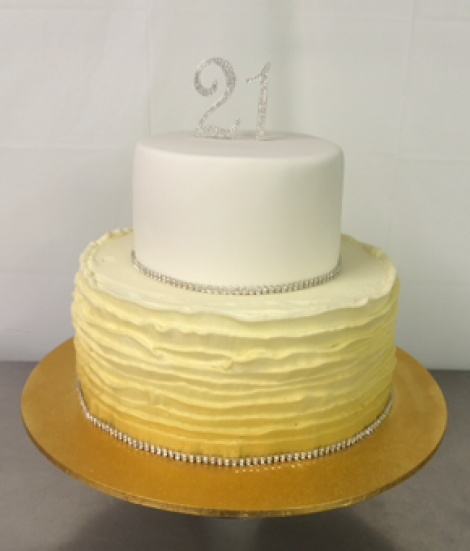 Gold ombre 2 tier