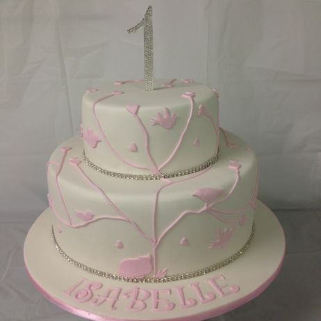 Pink and white two tier