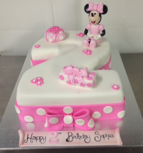 Minnie number 2 cake - Annette s Heavenly Cakes