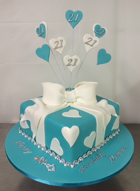 21st Present Cake Annettes Heavenly Cakes