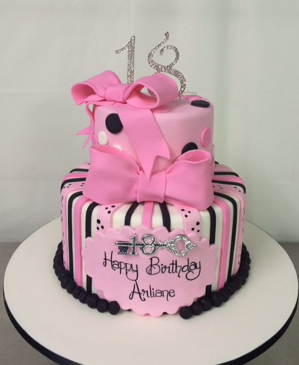 2 Tier 18th Cake Annettes Heavenly Cakes