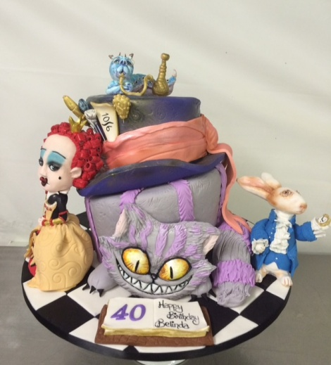 Alice in wondwerland Cake