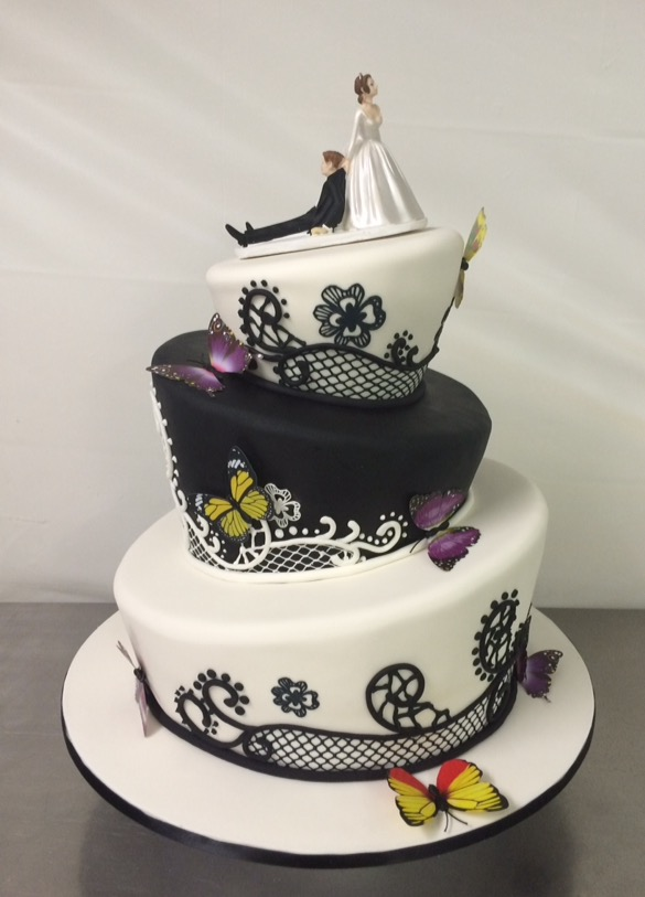 Topsy Turvy wedding cake - Annette\'s Heavenly Cakes