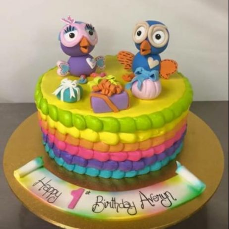 Hoot and Hootabelle cake