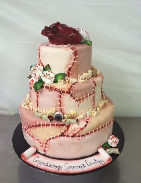 Horror Engagement Cake