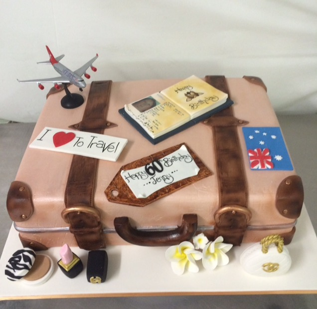 Suitcase Cake Annettes Heavenly Cakes