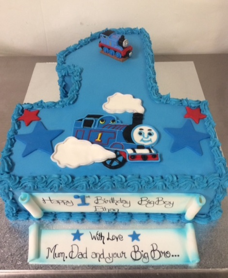 Thomas Tank number one cake